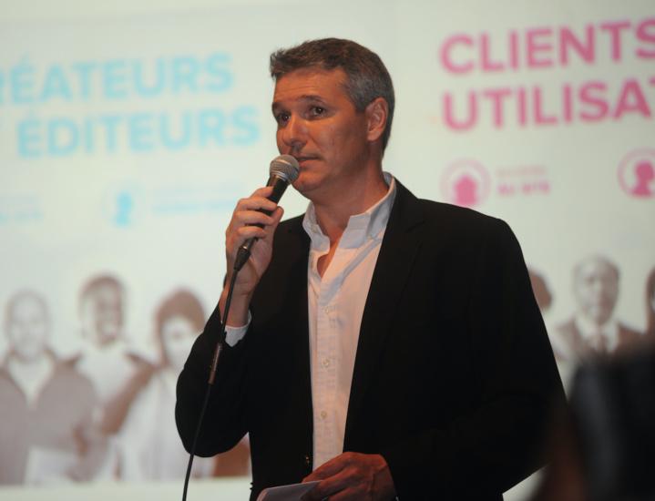 Patrick Mathieu, le délégué régional de la Sacem, chef d'orchestre de la soirée