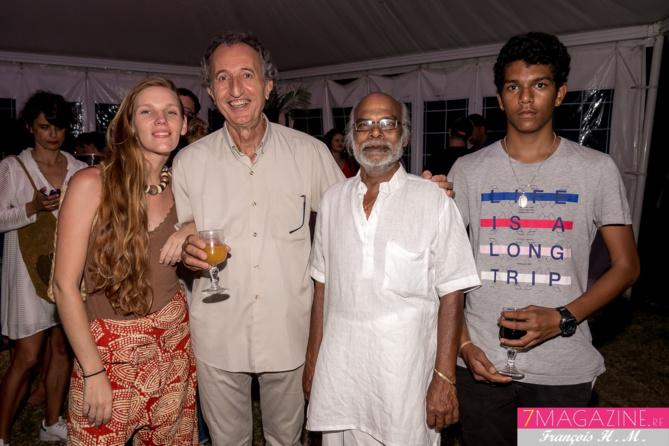 La leader de Saodaj, Alain Courbis, et des invités