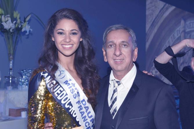 Aurore Kichenin, 1ère dauphine Miss France, et Aziz Patel