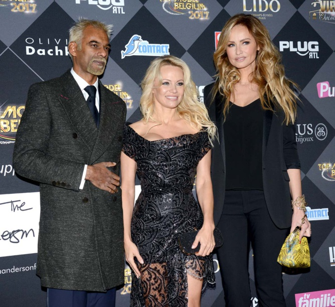 Satya Oblette, Pamela Anderson et Adriana Karembeu