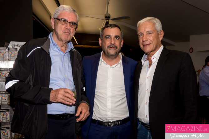 Raymond Lauret, Olivier Bajard et François Caillé