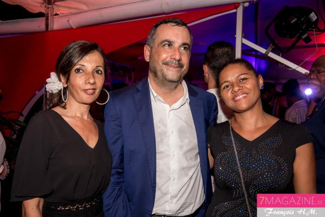 Olivier Bajard, Marie Noëlle Bègue, administratrice de la SHLMR (à droite), avec une invitée