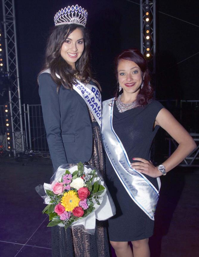 Ambre avec Alice Dijoux, 1ère dauphine Miss Plaine des Cafres 2016