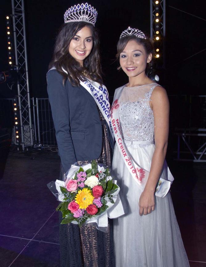 Ambre avec Lucie, Miss Fleurs 2016