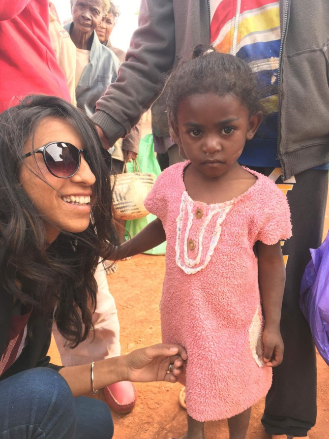 Et avec les enfants malgaches défavorisés