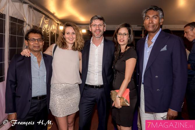 Gabriel Armoudom, Sophie Margail, Laurent Schwartz, Florence Chane-Tune, avocats, et Jean-Gaël Moutoussamy-Anda, cadre territorial