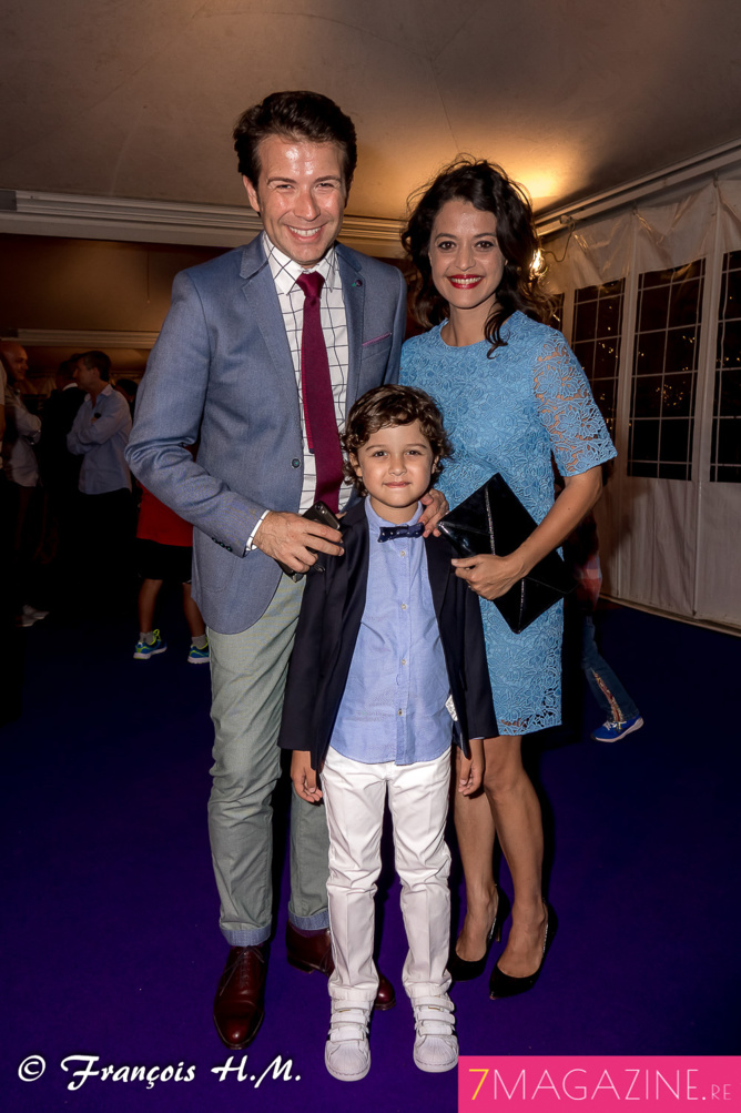 Christophe et Stéphanie Bégert avec leur fils Antoine