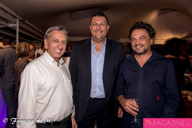 Aziz Patel, Edy Payet, délégué général Agence Film Réunion, et Eric Fruteau, directeur de Digital Studio