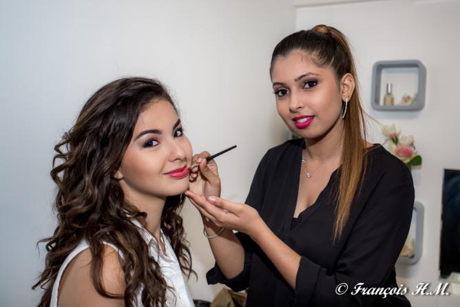 Ambre a été maquillée par Hana