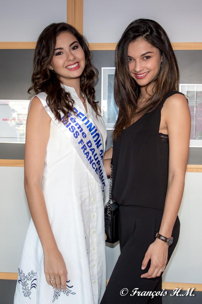 Les deux belles Miss Réunion de ces deux dernières années. Pour Miss Réunion 2017, les castings ont lieu en avril...