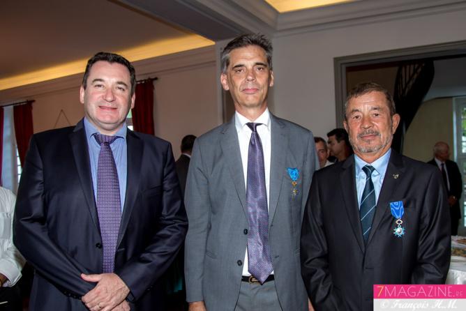 Pascal Turonnet, directeur du Mercure Créolia, Dominique Sorain et Jacques Laravine
