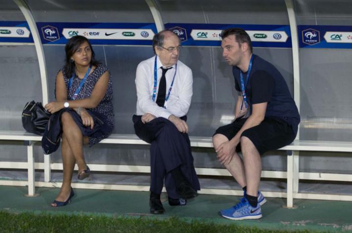 Noël Le Graët (au centre), président de la Fédération Française de Football, était présent