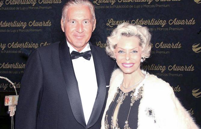 Avec le Prince Antonio de Prezeguelos à la soirée de gala de remise des awards de la publicité de luxe à Marbella (Espagne) en décembre dernier