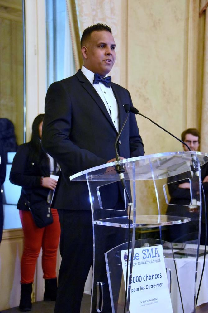 Sébastien Valentin (originaire de Saint-Denis) a témoigné de sa formation de maçon au sein du SMA