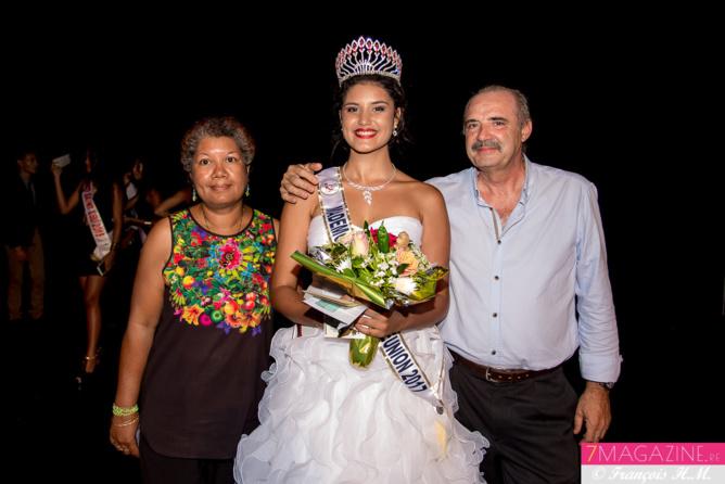Anaïs avec ses parents
