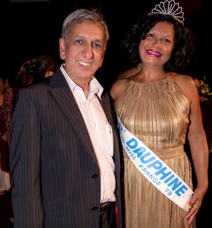 Aziz Patel et Isabelle Jacquemart, Miss Réunion 1978 et 2ème dauphine de Miss France 1979
