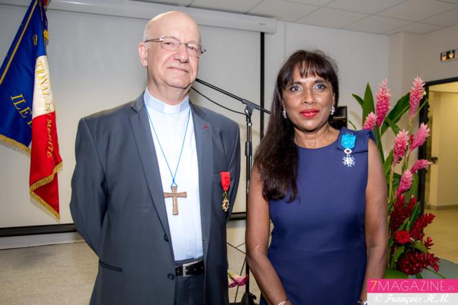 Monseigneur Aubry et Ida Camalon