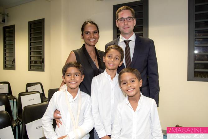 Cyndie, la fille médecin d'Ida, avec son époux Grégory Letniowsky, médecin également, et leurs trois enfants