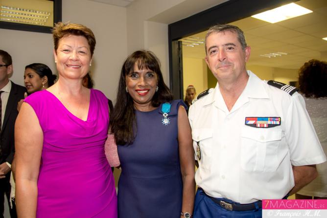 Avec le colonel Auffret et son épouse Sylviane
