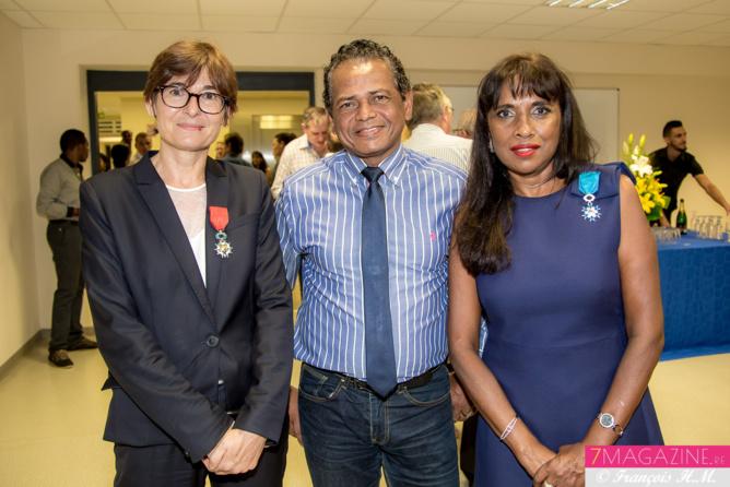 Christine Geoffroy, Philippe M'Roimana, et Ida Camalon