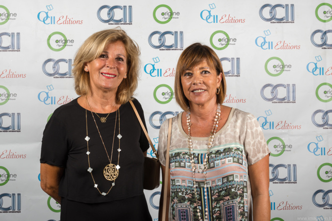 Marie-Thérèse Tomasini, de la Pharmacie du Lagon, et Geneviève Chenard