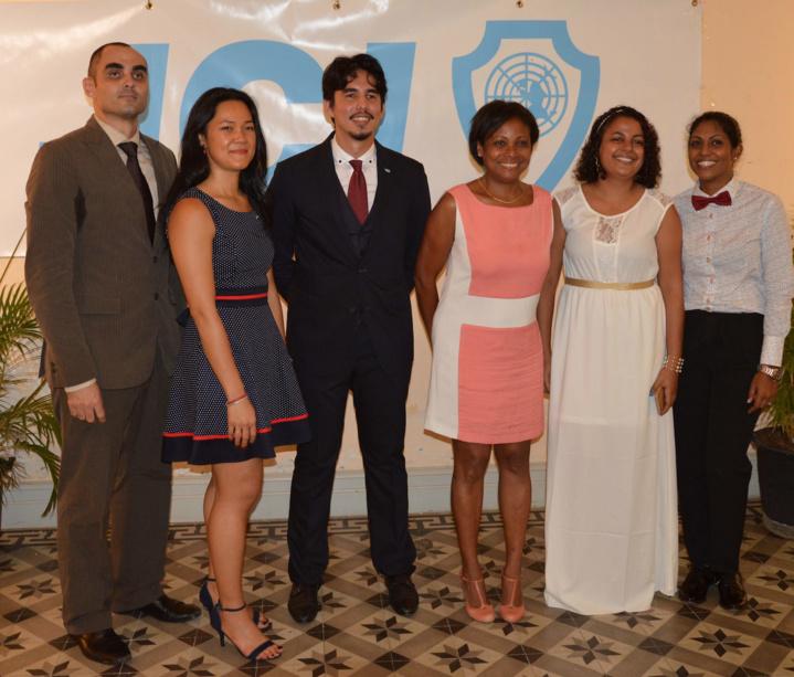 Les membres du bureau avec Monique Orphé
