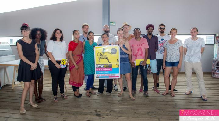 Les responsables de la Cité des Arts et quelques artistes qui participeront à Gayar Cité