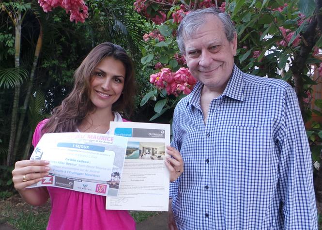 Barbara et Pierrot Dupuy directeur de publication de Zinfos 974 et de 7magazine.re