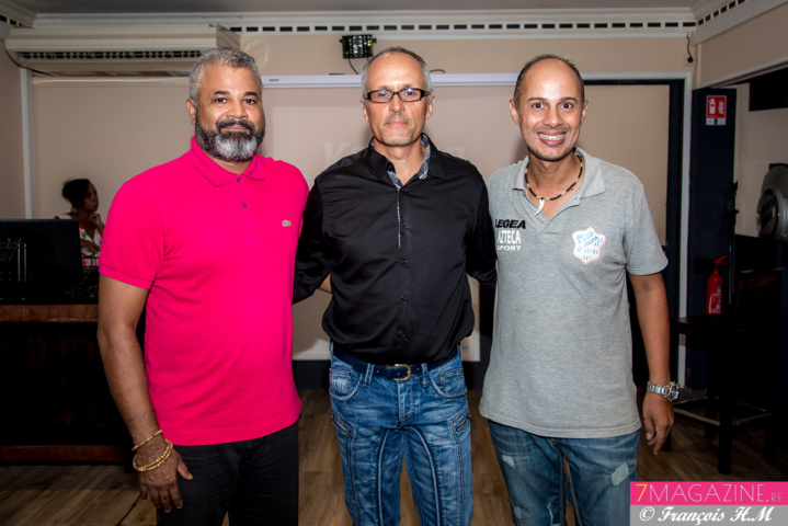 Freddy Latchoumaya, directeur Maya Sports, Patrick Grondin, président, et Pascal Falcuci, dirigeant