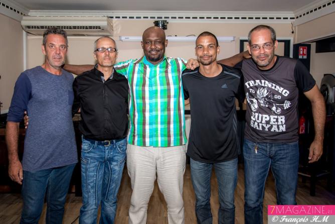 Michel, Patrick Grondin, Giovani, Laurent Zoogones, et Robert Fontaine