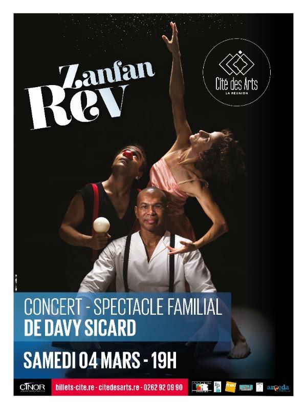 Zanfan Rev, le nouveau spectacle musical de Davy Sicard