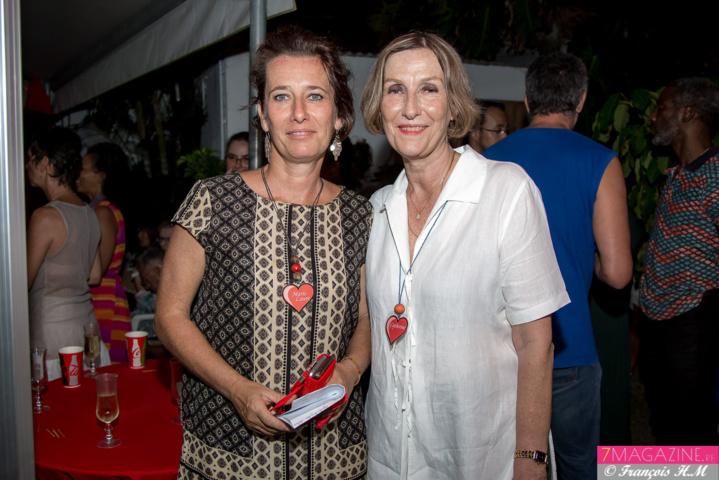Marie-Laure Veyrat, chargée de communication, et la présidente Catherine Gaud