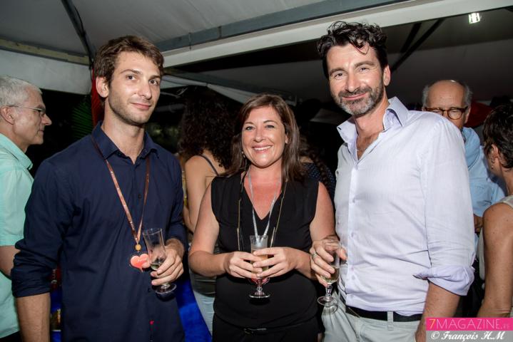 Antoine Uzan, infirmier, Andréa Le Calvé, directrice de Rive, et Sylvain Baty, directeur de l'hôpital d'enfants ASFA, bénévole à Rive