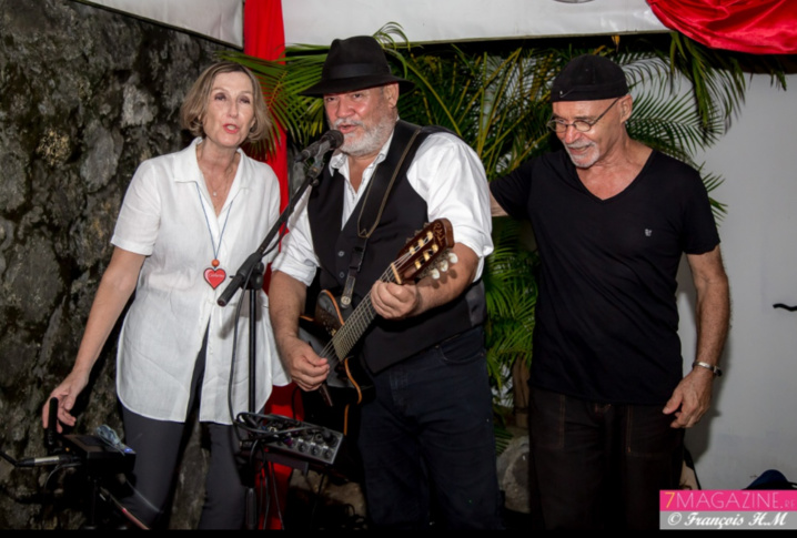 Joël Manglou avec Catherine Gaud et Oté Pirates