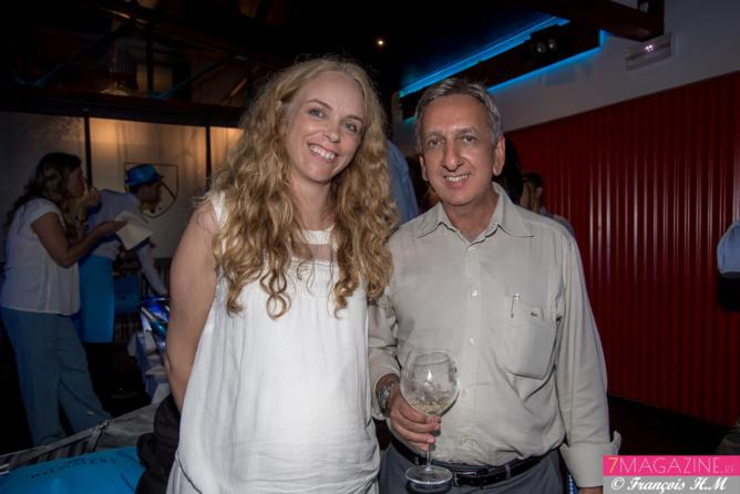 Laure Testart, attachée de presse Castel Covino, et Aziz Patel