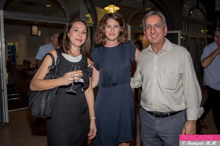Sylvie Latchoumy, Directrice d'agence Pôle Emploi La Possession, Pauline Boissimon et Aziz Patel
