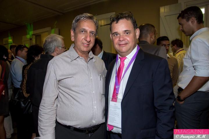 Aziz Patel de 7Magazine.re et Pascal Picard, directeur IAE Réunion