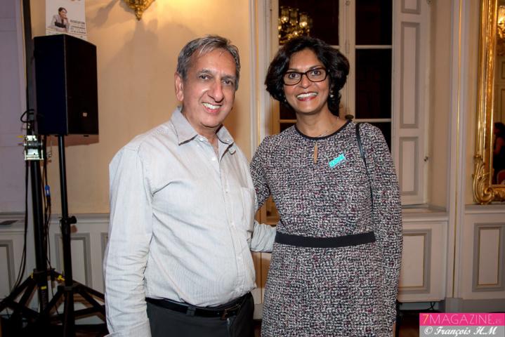 Aziz Patel et Nadine Caroupanin, déléguée régionale aux droits des femmes