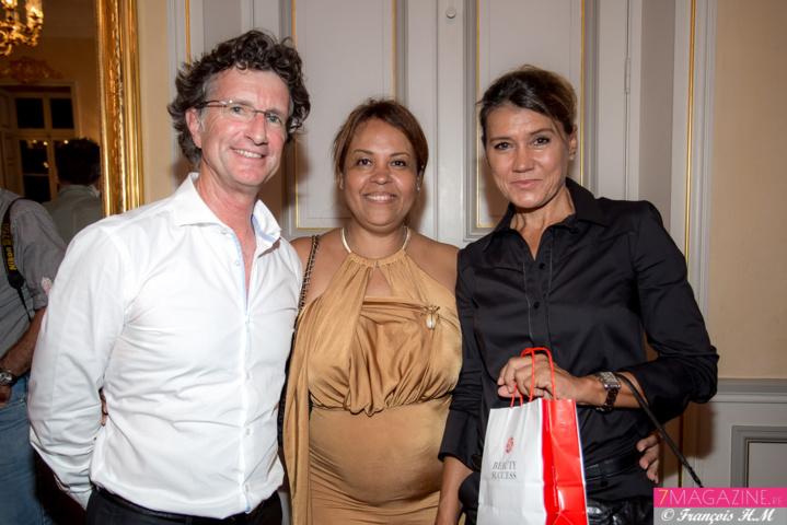 Martine Odin avec Christophe et Linette Vielle