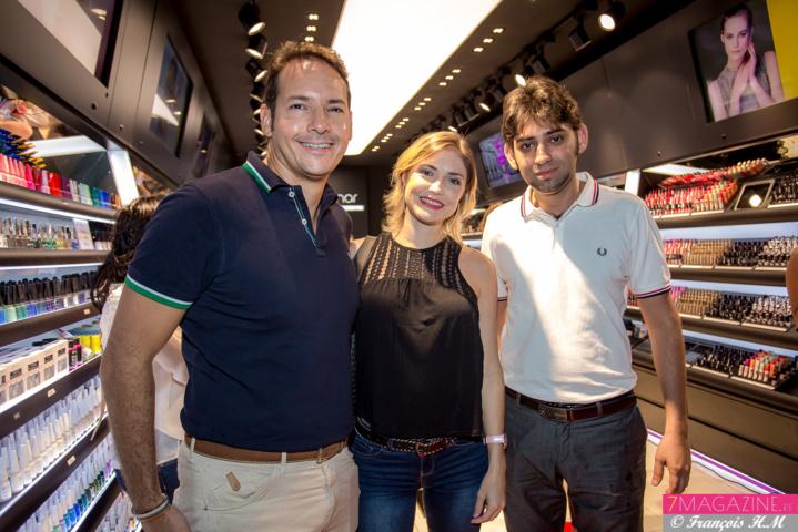 Sahel Krid, Kristelle Francoeur, blogueuse krismakeup.re, et Mickaël