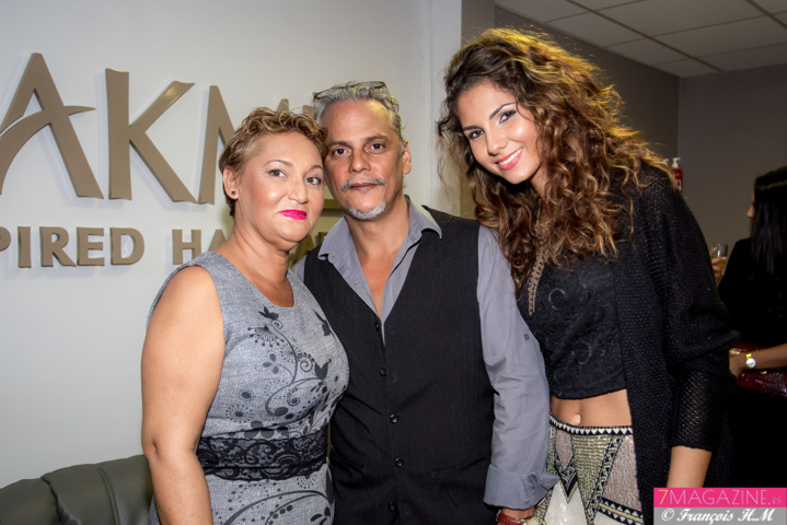 Dominique et Félix Manent avec Marie Payet