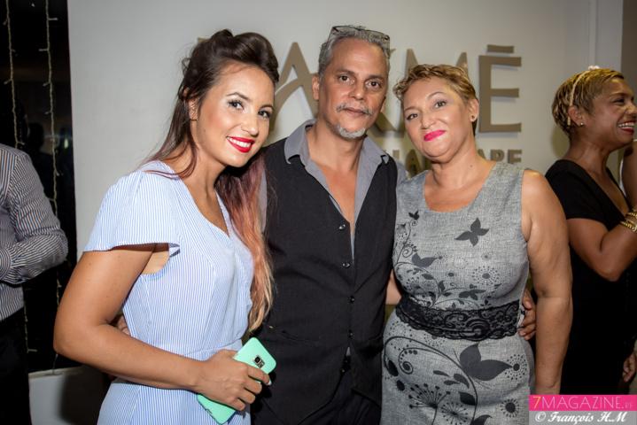 Audrey Dardenne, avec Félix et Dominique Manent