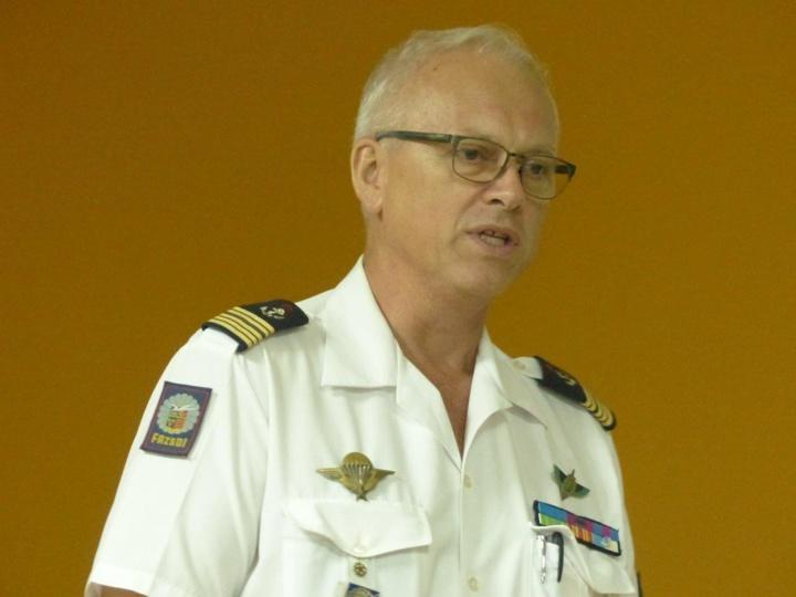 Colonel (er) Dominique Bertrand, président de l'Union des Officiers de Réserve de l'Océan Indien (UOROI)
