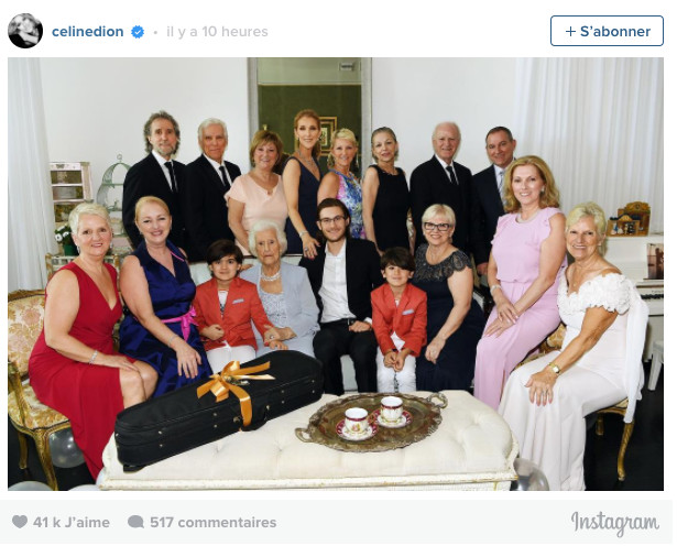 Céline Dion fête les 90 ans de sa maman