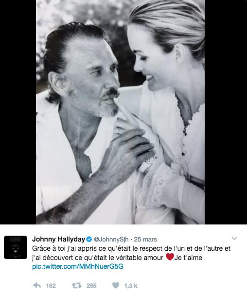 Johnny Hallyday in love!