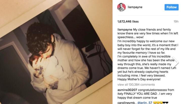 Liam Payne de One Direction jeune papa