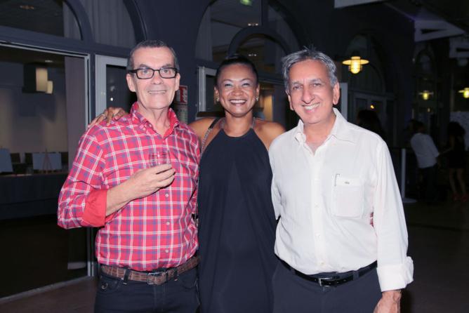 Eric Rennie d'Ofim Immobilier, Luciana Richard, et Aziz Patel