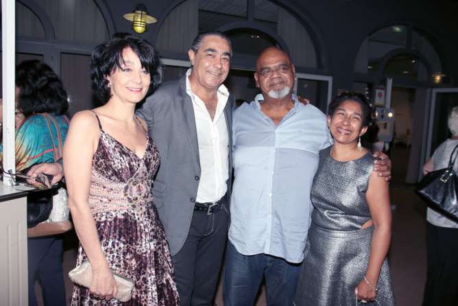 Cathy, Thierry, Tiloun et sa compagne