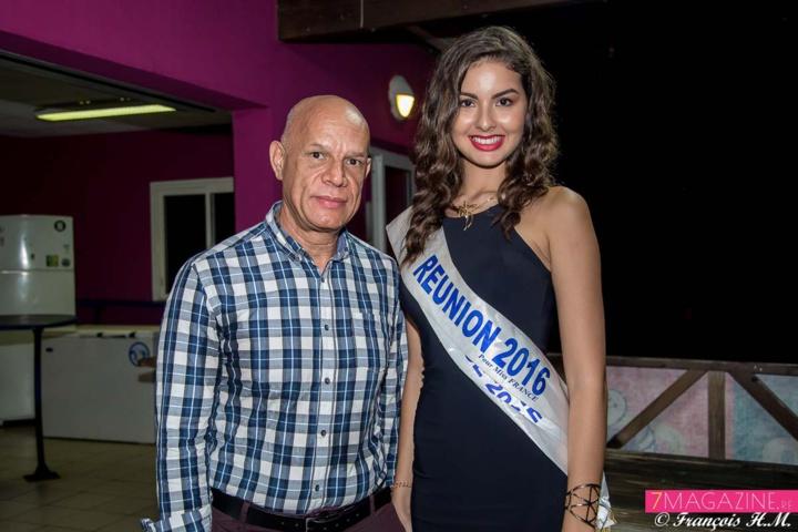 Khaled Moussadjee, adjoint au maire de Saint-Leu, et Miss Réunion