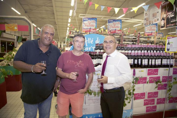 Le directeur avec Mr Noly, retaité EDF, et Mr Noly, facteur